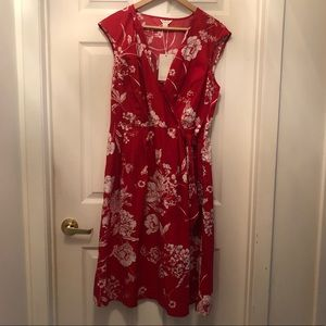 Monsoon faux wrap dress, unworn, tags attached.